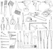 Set of DIY tools. doodles. Stock Image