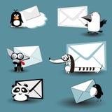 Set djur för post stock illustrationer