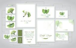 Set dla ślubnego druku: zaproszenia, karty dla gości, kod ubioru, stoły ilustracji