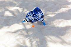 Set dla śwista pong, plażowy tenis zdjęcie stock