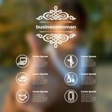 Set dla infographics z zamazanym tłem Zdjęcia Royalty Free