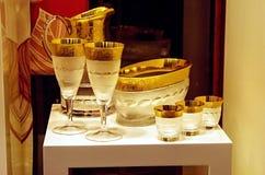 Set dla pić wino Zdjęcia Royalty Free