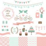 Set dla poślubiać projekt Miłość elementy dla twój projekta Obraz Stock