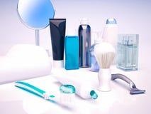 Set dla ranek higieny Mężczyzna twarzy opieka Zdjęcia Royalty Free