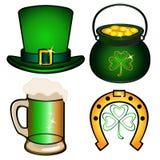 Set dla St Patrick ` s dnia ilustracja wektor