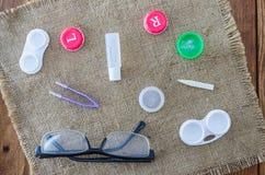 Set dla zamazanych wzrok ludzi myopia Zdjęcia Royalty Free