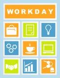 Set 9 dni roboczych ikon Zdjęcie Royalty Free