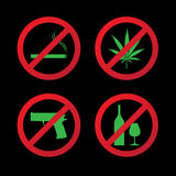 Set of do not allowed symbols Royalty Free Stock Photography