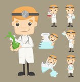 Set of doctor characters poses Royalty Free Stock Image
