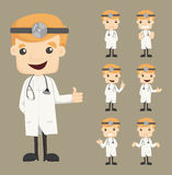 Set of doctor characters poses Stock Images