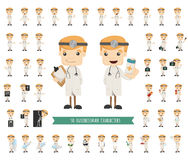 Set of doctor characters poses Stock Image