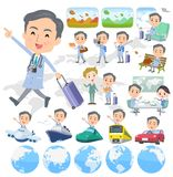 Doctor old men_travel royalty free illustration