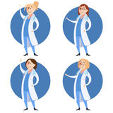 Set of doctor women Stock Images