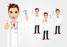 Set of doctors with medicine packet Stock Image