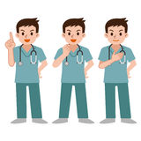 Set of doctors in a scrub Stock Images
