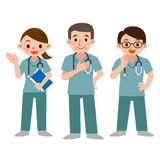 Set of doctors in a scrub Royalty Free Stock Images