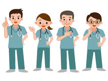 Set of doctors in a scrub Royalty Free Stock Photography