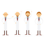 Set of doctors Stock Images