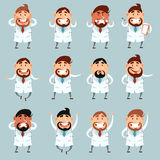 Set of doctors2 Stock Photography