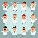 Set of doctors3 Stock Photo
