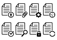 Document file icons. Vector illustration royalty free illustration
