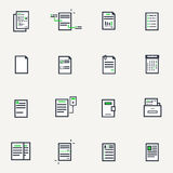 Set of document icons Royalty Free Stock Photography