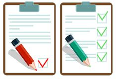 Set of documents Stock Photography