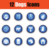 Set of dog breeding icons. Stock Photos