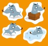 Set of dog illustrations stock illustration