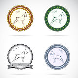 Set of  dog label Royalty Free Stock Image