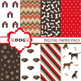 Set of dog pattern. Set of dog design elements vector illustration