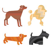 Set of dog silhouettes Royalty Free Stock Photography