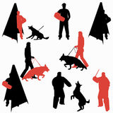 Set of dog sport silhouettes. Royalty Free Stock Photography