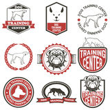 Set of Dog training center labels. Royalty Free Stock Images