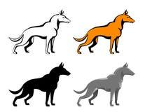 Set of dog Royalty Free Stock Photos