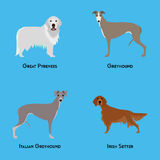 Set of dogs Royalty Free Stock Image