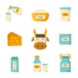 Set dojni produkty Zdjęcia Stock