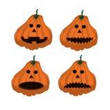 Set dojrzałe pomarańczowe banie na Halloween 2 Obraz Royalty Free