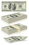 Set of dollar bank notes Royalty Free Stock Photos