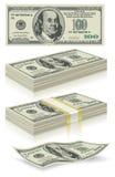 Set of dollar bank notes royalty free illustration