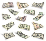 Set of dollar bills Royalty Free Stock Images