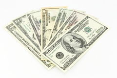 Set of dollars Royalty Free Stock Photos