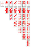 Set of Domino Card  on white Royalty Free Stock Photography