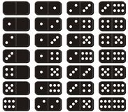 Set of dominoes on white background Stock Photography