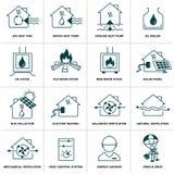Set domowa energetyczna ikona Obrazy Royalty Free