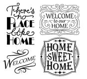 Set Domowi znaki Obraz Royalty Free