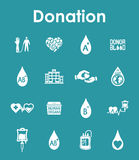 Set of donation simple icons Stock Photo