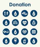 Set of donation simple icons Stock Photography