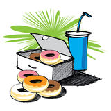 Set of donut  hand drawn Royalty Free Stock Photography