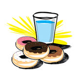 Set of donut  hand drawn Royalty Free Stock Photo